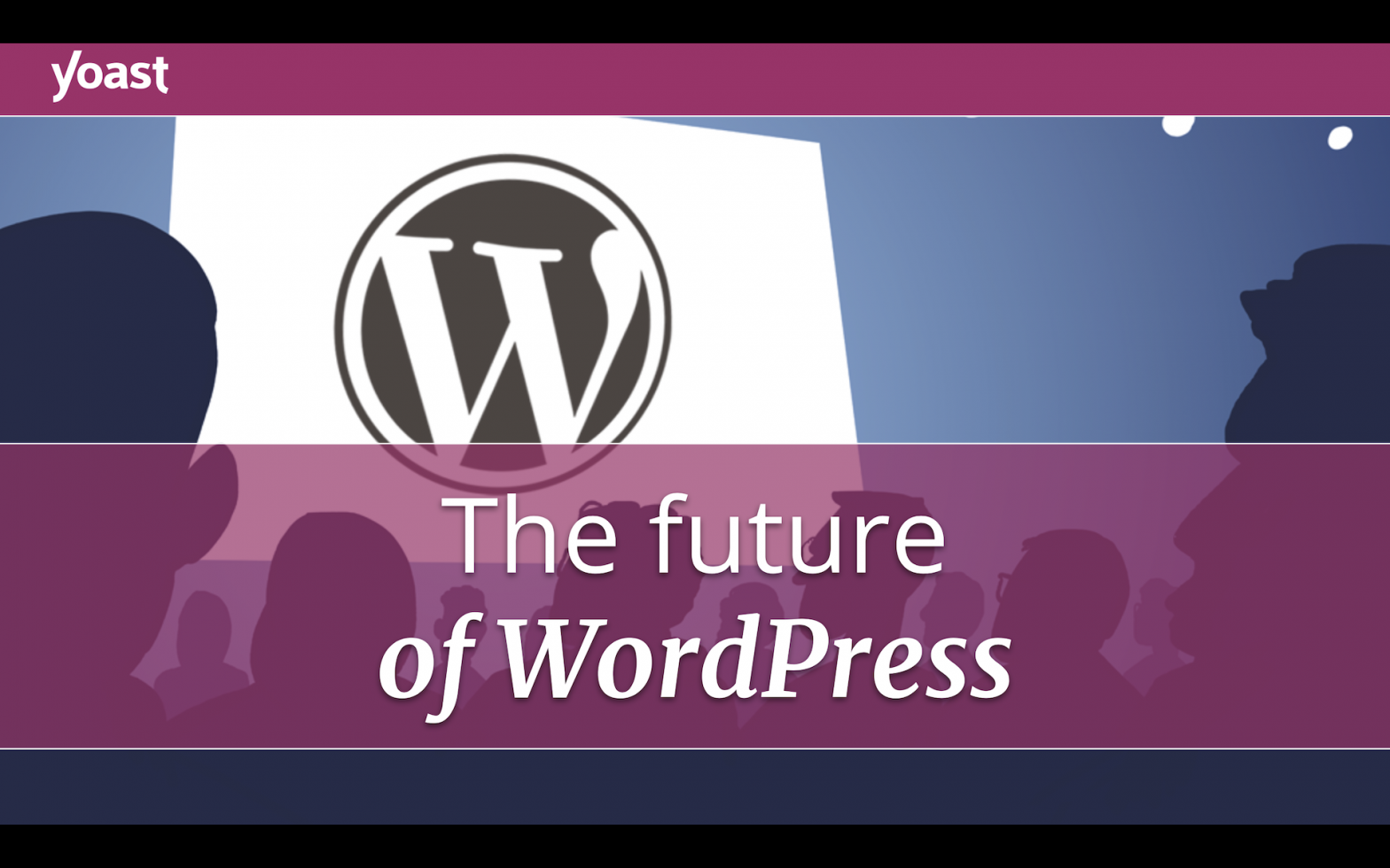 "Cover of the slides for the talk ""The Future of WordPress"""
