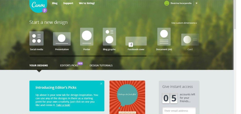 screenshot canva