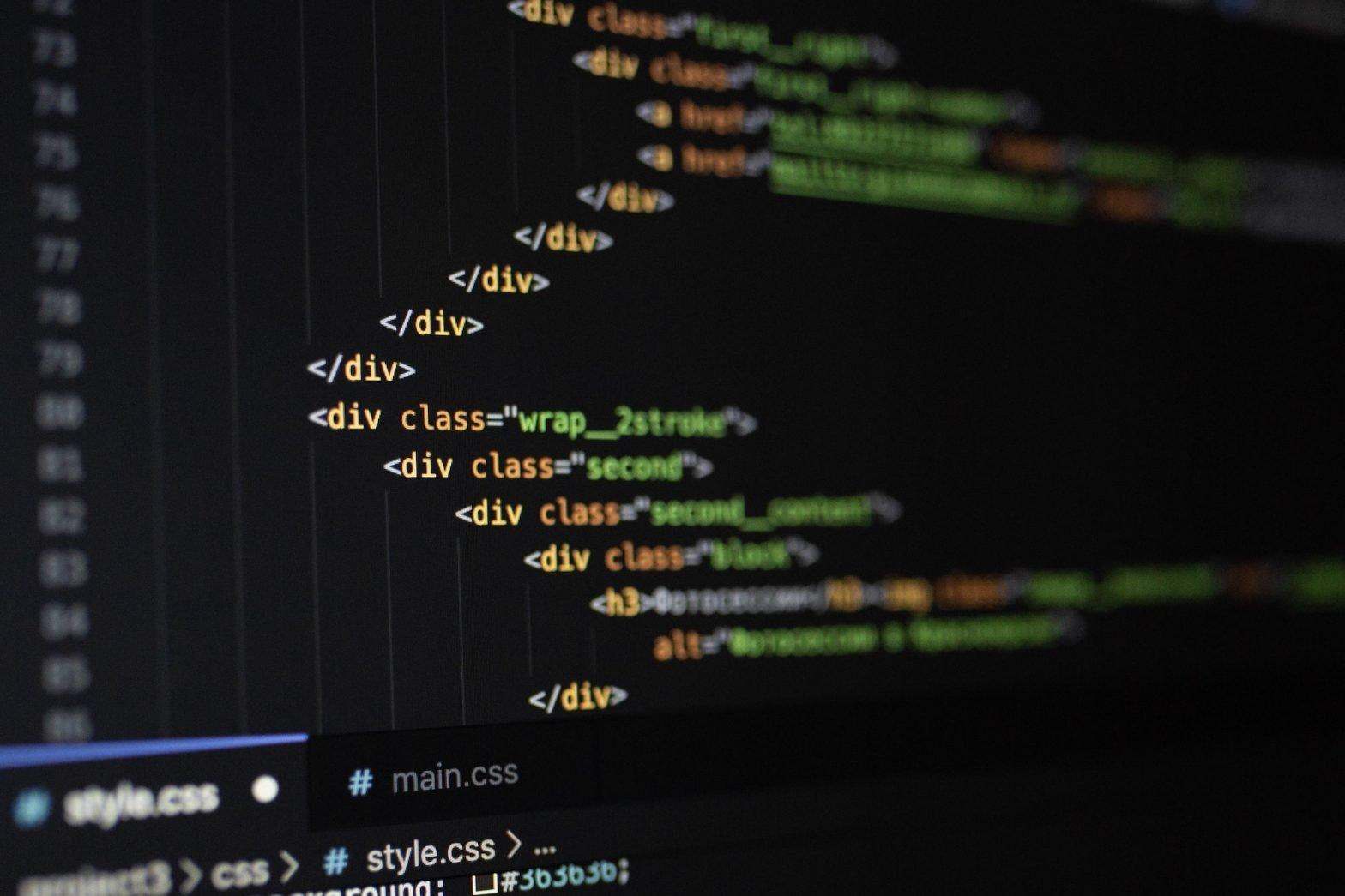 Schermata di codice
