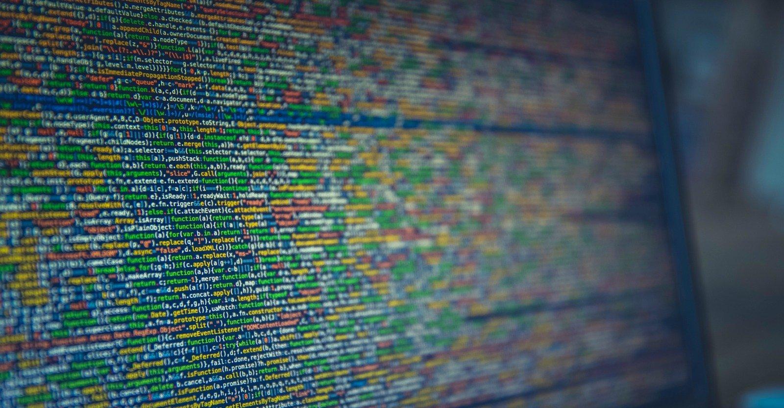 Linee di codice su schermo