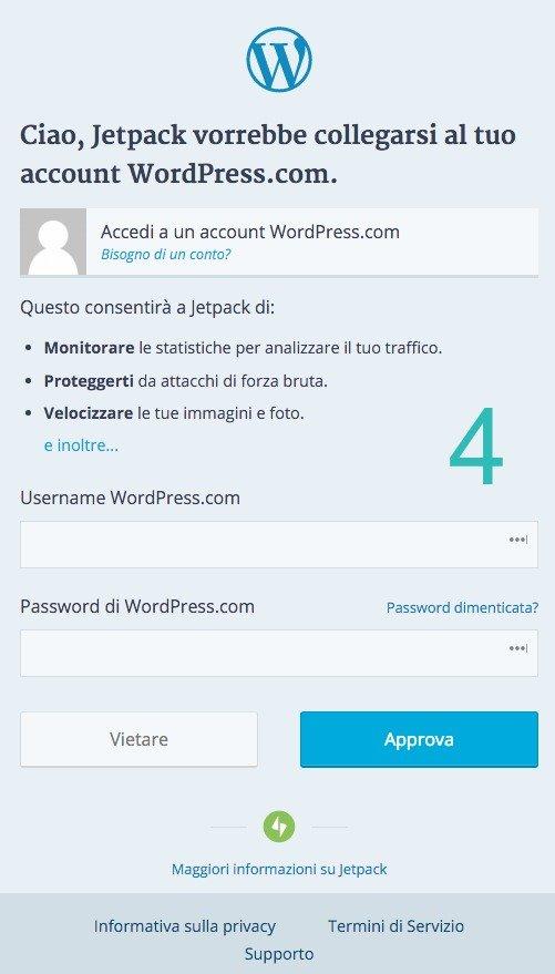 Collegare Jetpack a WordPress.com - 02