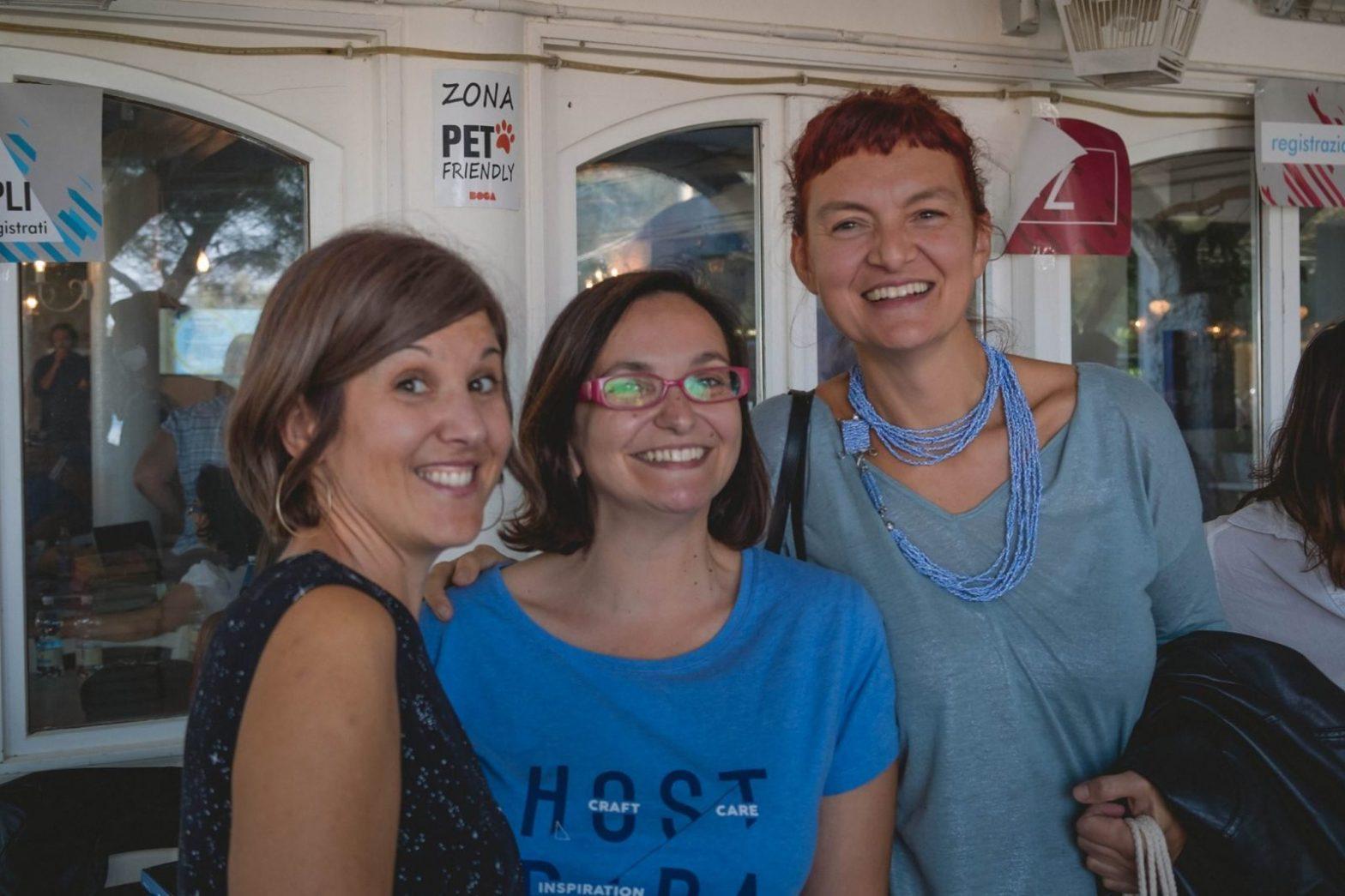 Francesca e due amiche al Freelancecamp